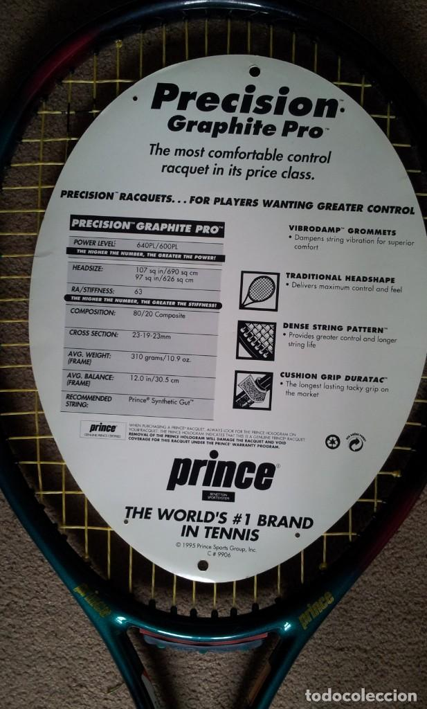 Coleccionismo deportivo: 2 Raquetas Prince Tenis Vintage años 90 - Foto 4 - 140905418