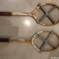 Coleccionismo deportivo - 2 raquetas antiguas con tensor - 141759477