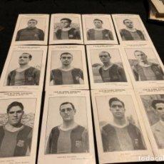 Coleccionismo deportivo: COLECCIÓN COMPLETA JUGADORES CAMPEÓN DE ESPAÑA 1942 FÚTBOL CLUB FC BARÇA CF F. C BARCELONA . Lote 143129298