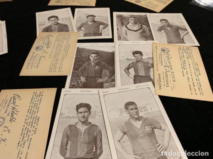 Coleccionismo deportivo: Colección completa chocolates Juncosa secuencias jugadores fútbol club Fc barça cf f. C Barcelona - Foto 2 - 143130326