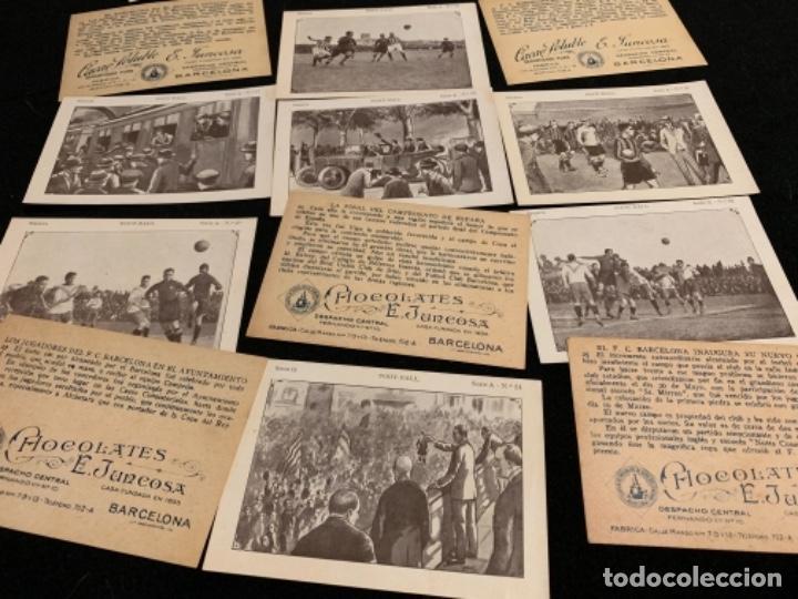Coleccionismo deportivo: Colección completa chocolates Juncosa secuencias jugadores fútbol club Fc barça cf f. C Barcelona - Foto 4 - 143130326