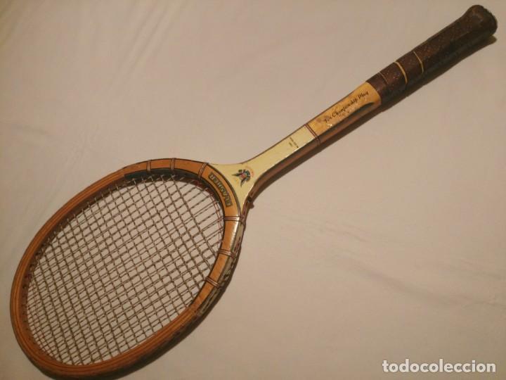 RAQUETA DE TENIS FLASHER POWERIZED FOR CHAMPIONSHIP PLAY. (Coleccionismo Deportivo - Material Deportivo - Otros deportes)