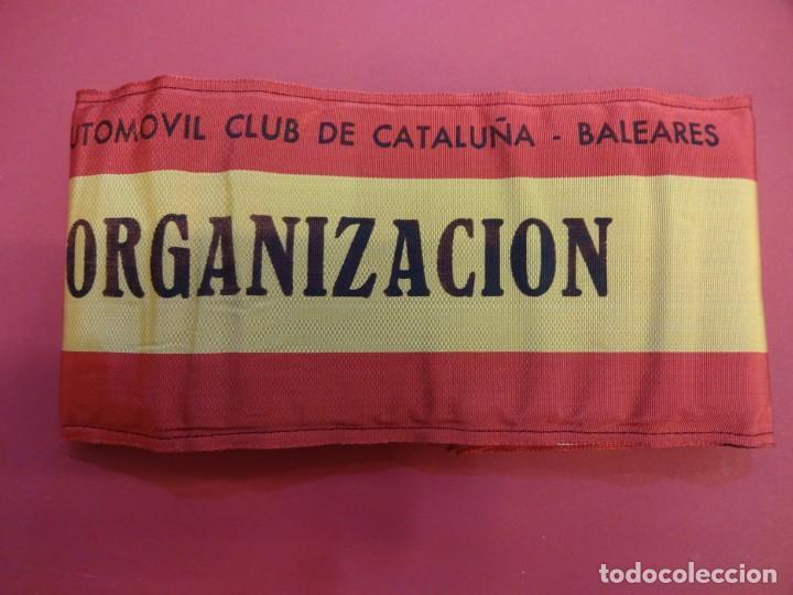 Coleccionismo deportivo: RACC Cataluña-Baleares. Brazal acolchado ORGANIZACION prueba automovilística años 1970s - Foto 5 - 146500290