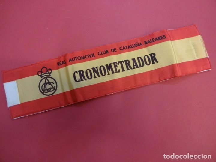 Coleccionismo deportivo: RACC Cataluña-Baleares. Brazal acolchado ORGANIZACION prueba automovilística años 1970s - Foto 6 - 146500290