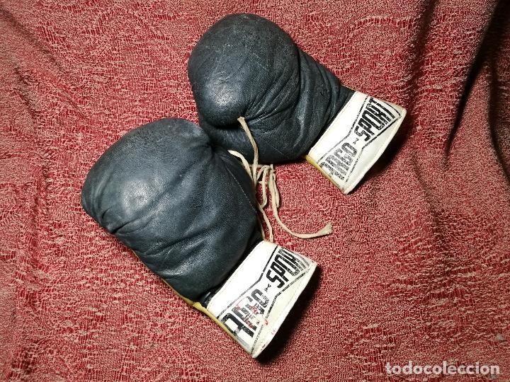 Coleccionismo deportivo: Guantes boxeo vintage años 50-60 adulto - Foto 2 - 146924754