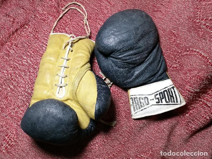 Coleccionismo deportivo: Guantes boxeo vintage años 50-60 adulto - Foto 3 - 146924754