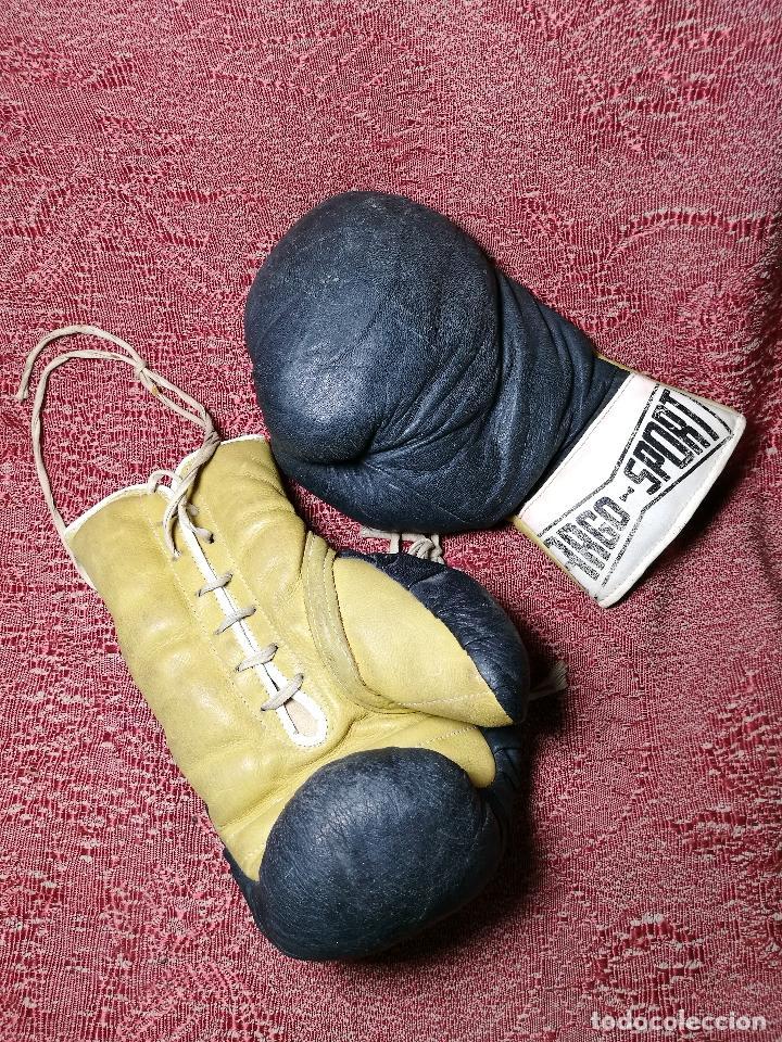 Coleccionismo deportivo: Guantes boxeo vintage años 50-60 adulto - Foto 4 - 146924754