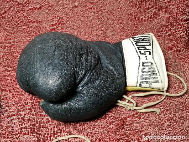 Coleccionismo deportivo: Guantes boxeo vintage años 50-60 adulto - Foto 8 - 146924754
