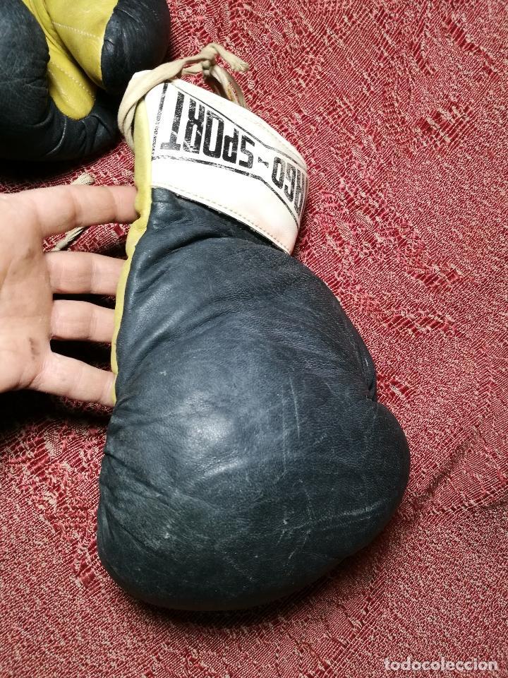 Coleccionismo deportivo: Guantes boxeo vintage años 50-60 adulto - Foto 12 - 146924754