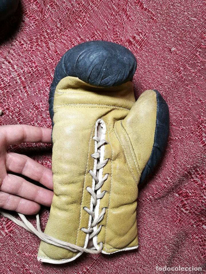 Coleccionismo deportivo: Guantes boxeo vintage años 50-60 adulto - Foto 14 - 146924754