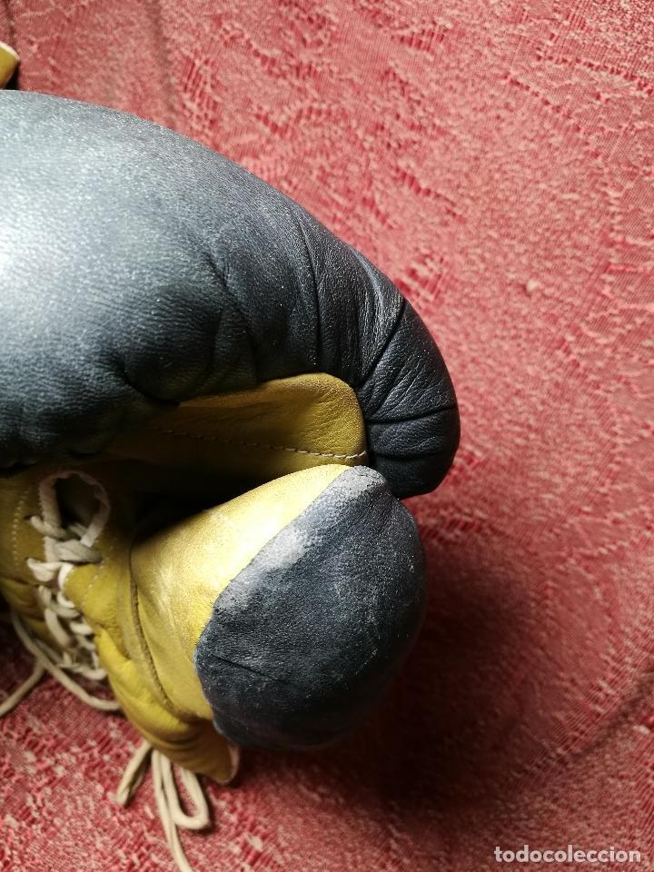 Coleccionismo deportivo: Guantes boxeo vintage años 50-60 adulto - Foto 15 - 146924754