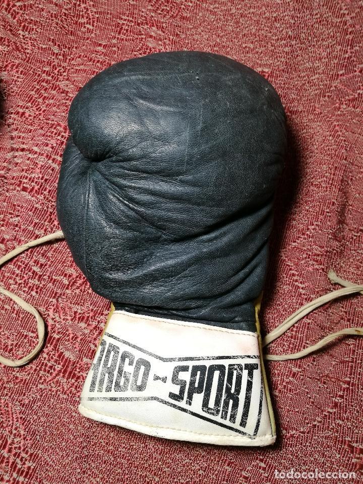 Coleccionismo deportivo: Guantes boxeo vintage años 50-60 adulto - Foto 17 - 146924754