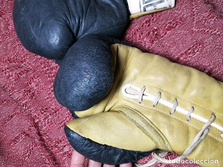 Coleccionismo deportivo: Guantes boxeo vintage años 50-60 adulto - Foto 19 - 146924754