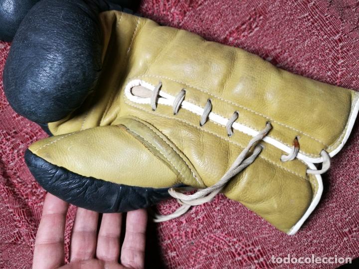 Coleccionismo deportivo: Guantes boxeo vintage años 50-60 adulto - Foto 20 - 146924754