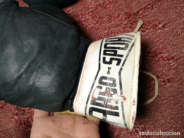 Coleccionismo deportivo: Guantes boxeo vintage años 50-60 adulto - Foto 21 - 146924754