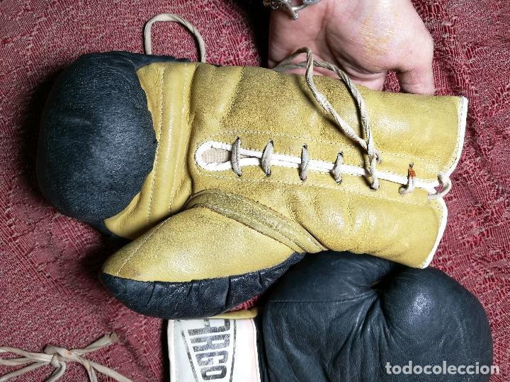 Coleccionismo deportivo: Guantes boxeo vintage años 50-60 adulto - Foto 24 - 146924754