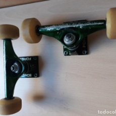 Coleccionismo deportivo: EJES PATINETA SKATE BOARDS MARCA FORCE. Lote 147048782