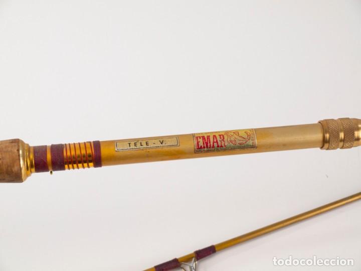 Coleccionismo deportivo: Carrete marca Sagarra y caña de pescar - Foto 4 - 147094338