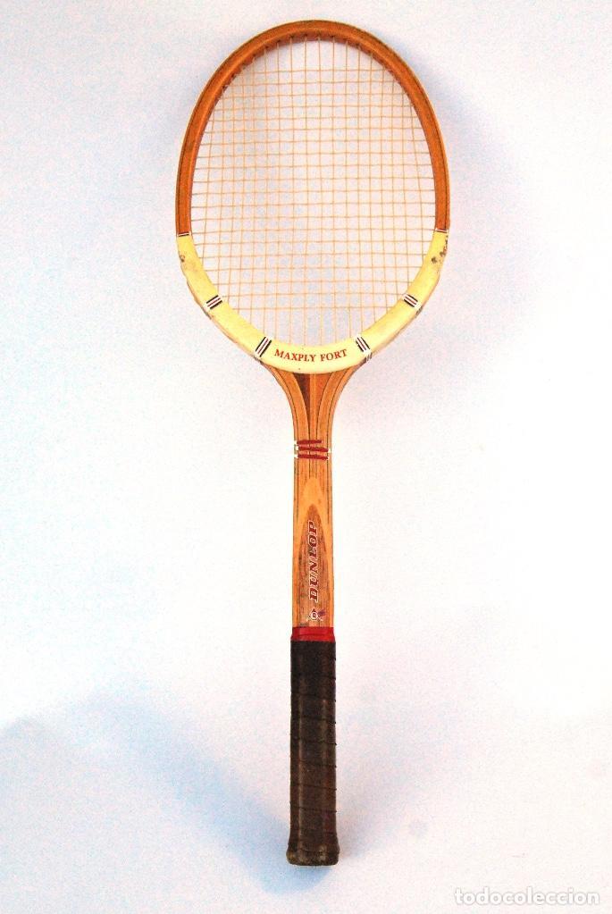 RAQUETA TENIS DE MADERA DUNLOP MAXPLY. AÑOS 70/80 (Coleccionismo Deportivo - Material Deportivo - Otros deportes)