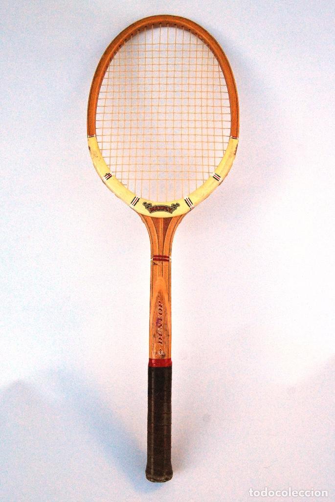Coleccionismo deportivo: RAQUETA TENIS DE MADERA DUNLOP MAXPLY. AÑOS 70/80 - Foto 3 - 147210990
