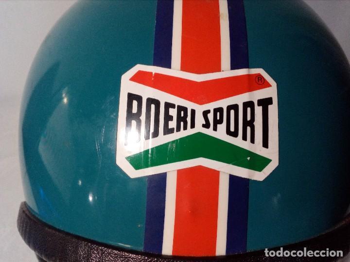 Coleccionismo deportivo: CASCO ESQUÍ DE NIÑO RETRO/VINTAGE AÑOS 70 DE LA MARCA ITALIANA BOERI - Foto 9 - 184410498