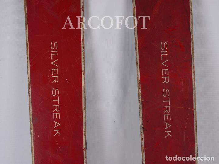 Coleccionismo deportivo: Antiguos SKIES - Esquíes SILVER STREAK - Con bastones (VER FOTOS) - Foto 3 - 149465698