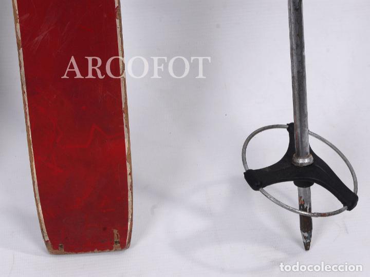 Coleccionismo deportivo: Antiguos SKIES - Esquíes SILVER STREAK - Con bastones (VER FOTOS) - Foto 4 - 149465698