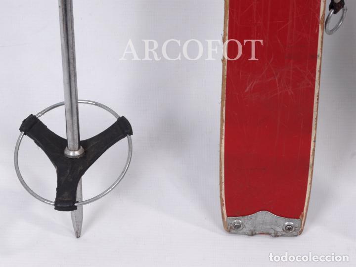 Coleccionismo deportivo: Antiguos SKIES - Esquíes SILVER STREAK - Con bastones (VER FOTOS) - Foto 5 - 149465698