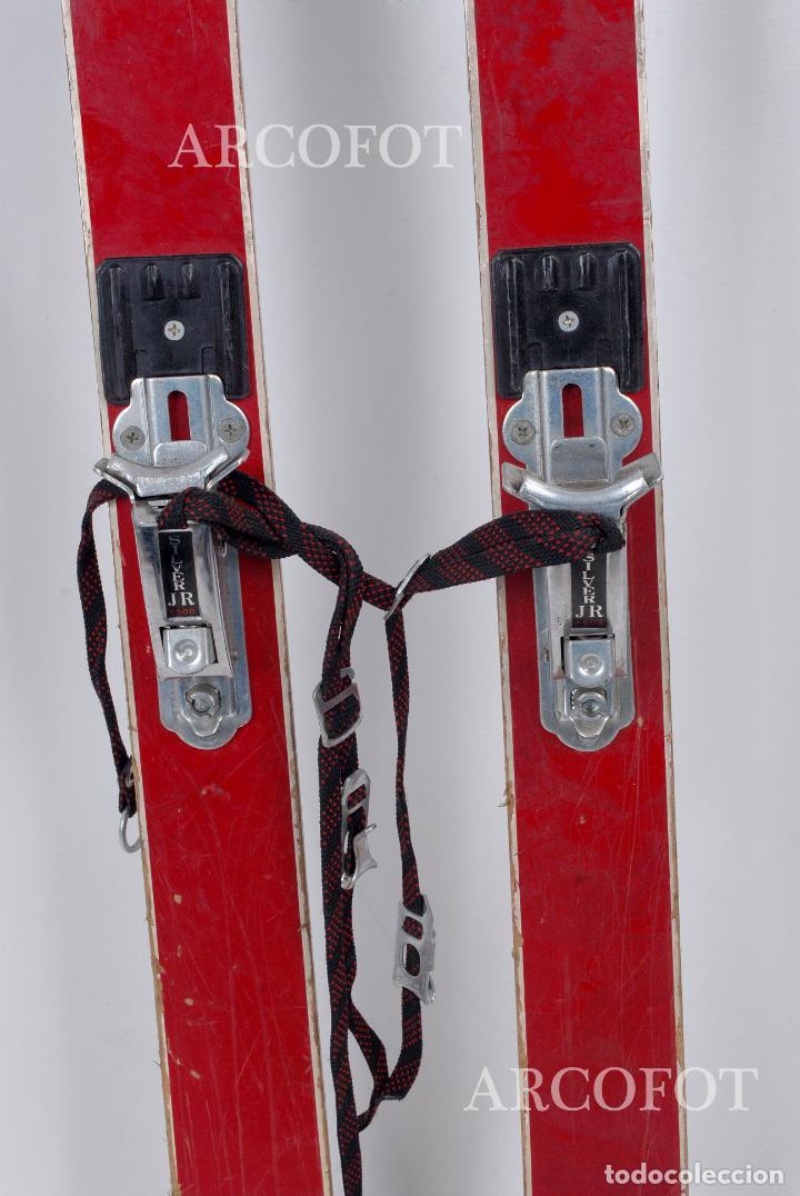 Coleccionismo deportivo: Antiguos SKIES - Esquíes SILVER STREAK - Con bastones (VER FOTOS) - Foto 6 - 149465698