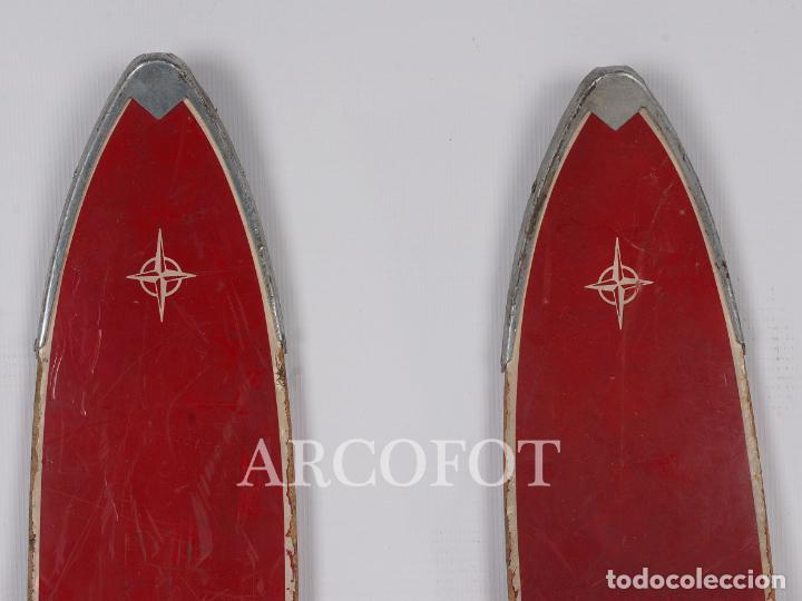 Coleccionismo deportivo: Antiguos SKIES - Esquíes SILVER STREAK - Con bastones (VER FOTOS) - Foto 7 - 149465698