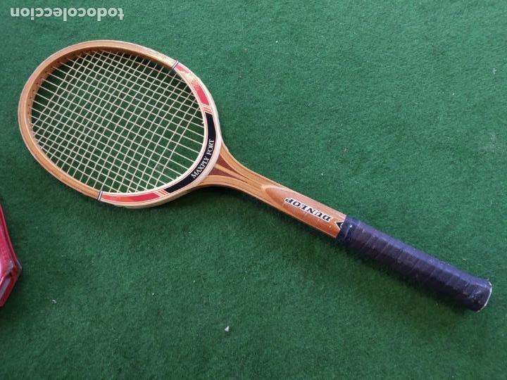 Coleccionismo deportivo: RAQUETA MADERA TENIS DUNLOP MAXPLY FORT - Foto 4 - 150989358