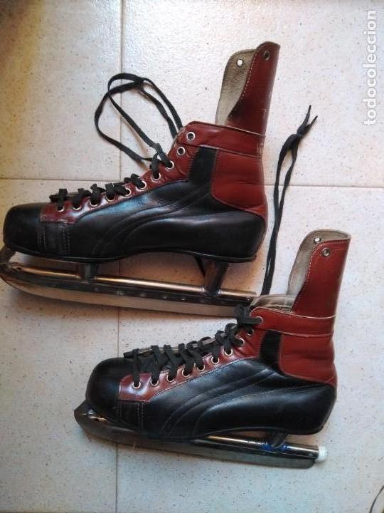 Coleccionismo deportivo: Botas patinaje sobre hielo - Foto 3 - 154412330
