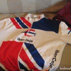 Coleccionismo deportivo: DOS MAILLOT IBERCAJA Y QUEBRANTA HUESOS 2008 EXPO. Lote 156278226