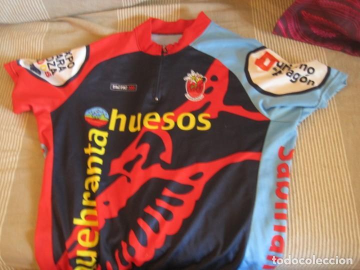 Coleccionismo deportivo: DOS MAILLOT IBERCAJA Y QUEBRANTA HUESOS 2008 EXPO - Foto 3 - 156278226