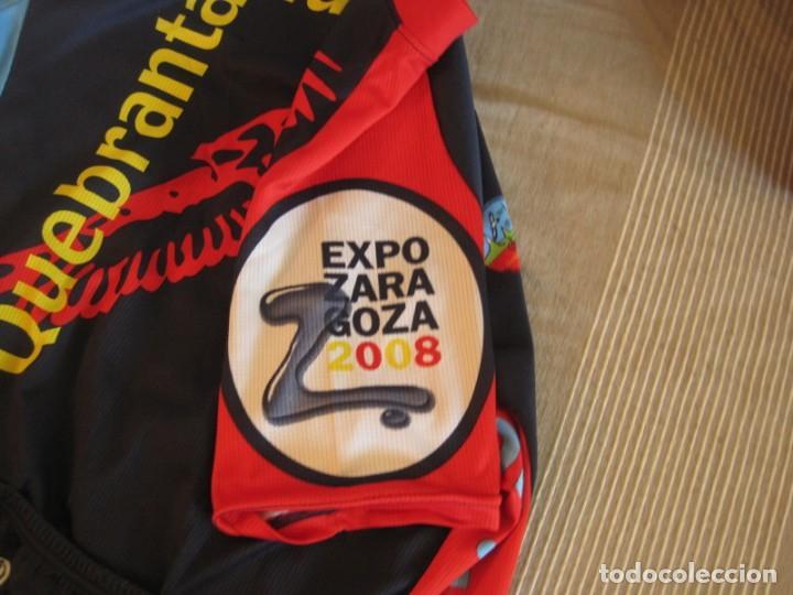 Coleccionismo deportivo: DOS MAILLOT IBERCAJA Y QUEBRANTA HUESOS 2008 EXPO - Foto 5 - 156278226