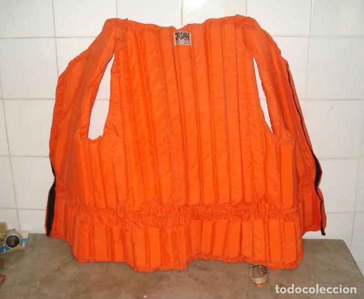 Coleccionismo deportivo: JASON Chaleco salvavidas vintage color naranja adultos años 1980. En buen estado de conservación - Foto 2 - 158113274