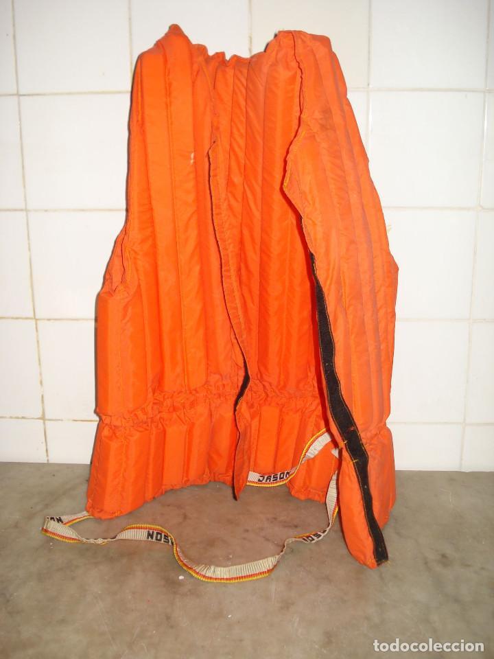Coleccionismo deportivo: JASON Chaleco salvavidas vintage color naranja adultos años 1980. En buen estado de conservación - Foto 3 - 158113274