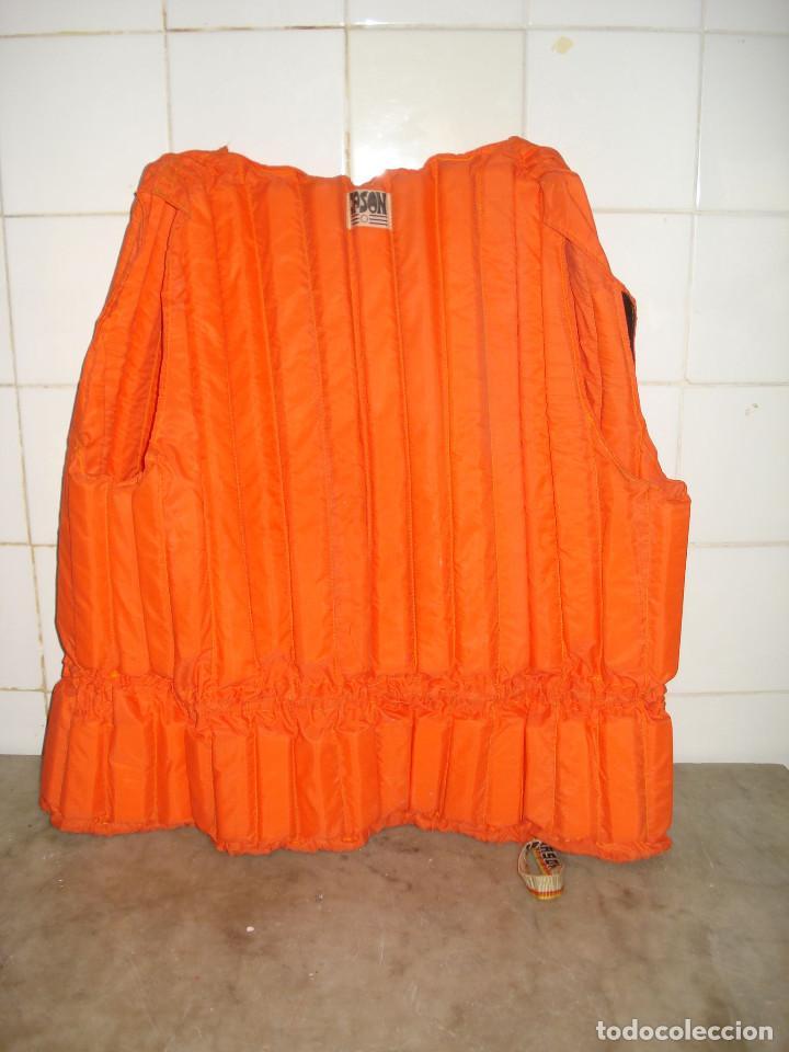 Coleccionismo deportivo: JASON Chaleco salvavidas vintage color naranja adultos años 1980. En buen estado de conservación - Foto 4 - 158113274