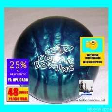 Coleccionismo deportivo: BOLA DE BOLOS - BOWLING - BRUNSWICK MODELO COSMIC BOWLING - DESCATALOGADA - M. B. ESTADO. Lote 160350638