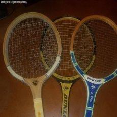 Coleccionismo deportivo: 3 RAQUETAS DE TENIS DUNLOP Y OTRA. Lote 160966165
