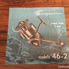 Coleccionismo deportivo: CATALOGO CARRETE PESCA SAGARRA MODELO 46-2 . Lote 161157234