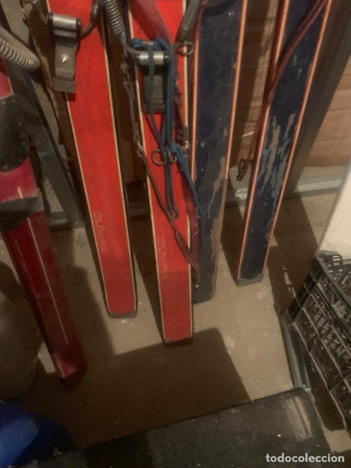 Coleccionismo deportivo: esquís de madera - Foto 4 - 196400786