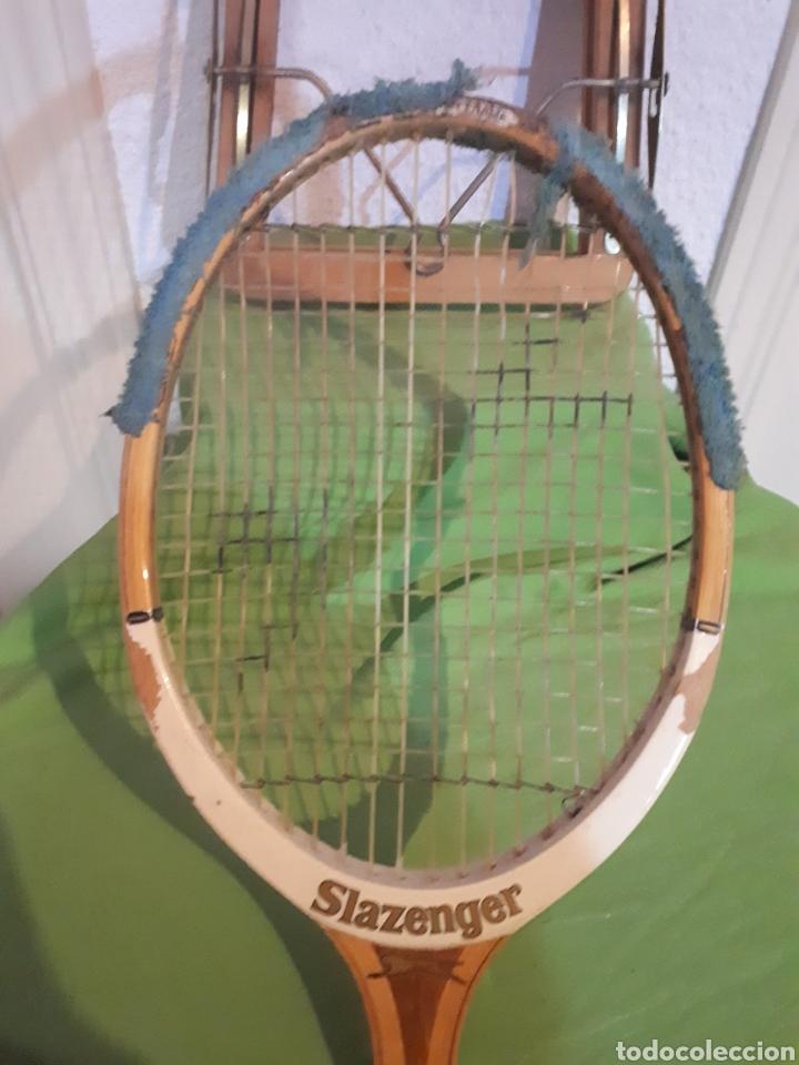 Coleccionismo deportivo: Antigua raqueta de tenis SLAZENGER CHALLENGE CON TENSOR AÑOS 60/70 - Foto 4 - 165721548