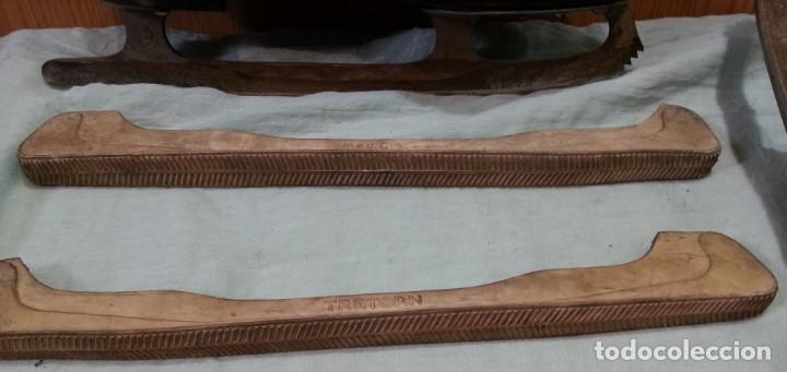 Coleccionismo deportivo: Patines de hielo. Antiguos. De bota y metal. Años 60 - Foto 5 - 166985004