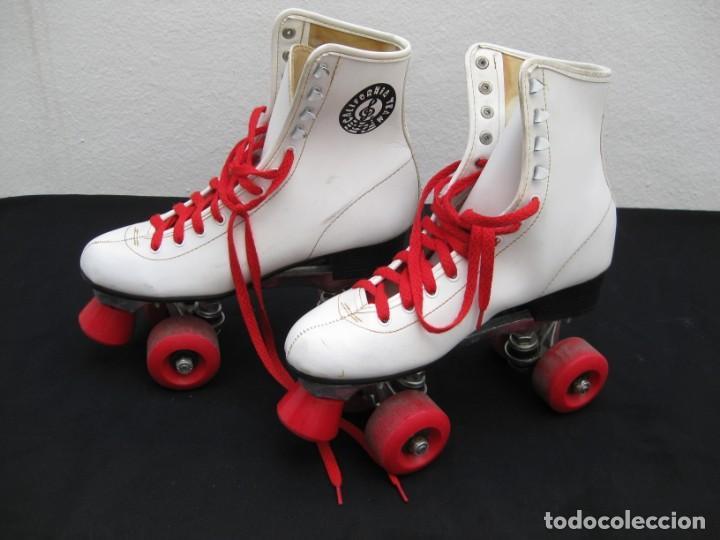 Coleccionismo deportivo: Patines con botas. Talla 40. California Team. - Foto 7 - 167449296
