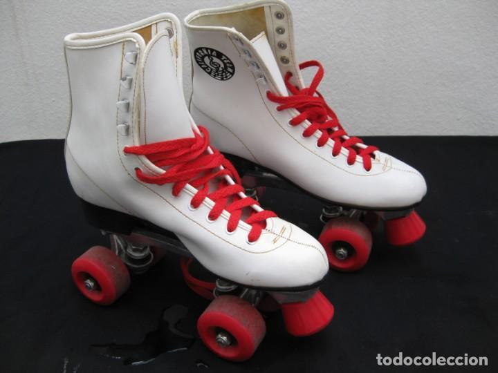 Coleccionismo deportivo: Patines con botas. Talla 40. California Team. - Foto 17 - 167449296