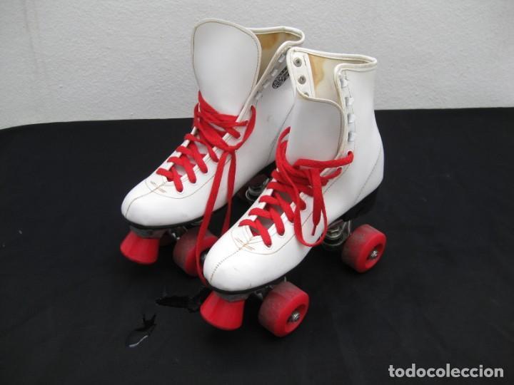 Coleccionismo deportivo: Patines con botas. Talla 40. California Team. - Foto 20 - 167449296
