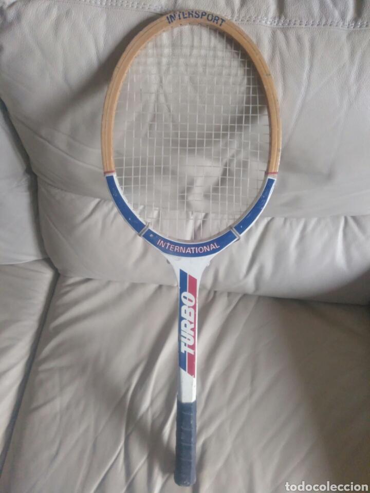 Coleccionismo deportivo: Antigua raqueta Turbo. - Foto 2 - 167593124