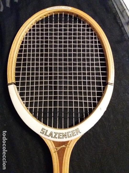 Coleccionismo deportivo: RAQUETA SLAZENGER CHALLENGE AÑOS 70 CON FUNDA - TENIS - Foto 3 - 171067414