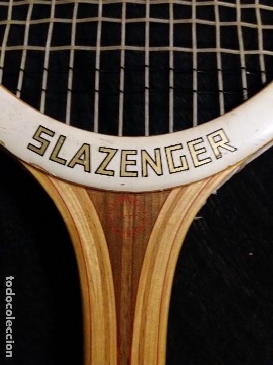 Coleccionismo deportivo: RAQUETA SLAZENGER CHALLENGE AÑOS 70 CON FUNDA - TENIS - Foto 5 - 171067414